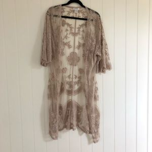 Sole Society Crochet Lace Duster